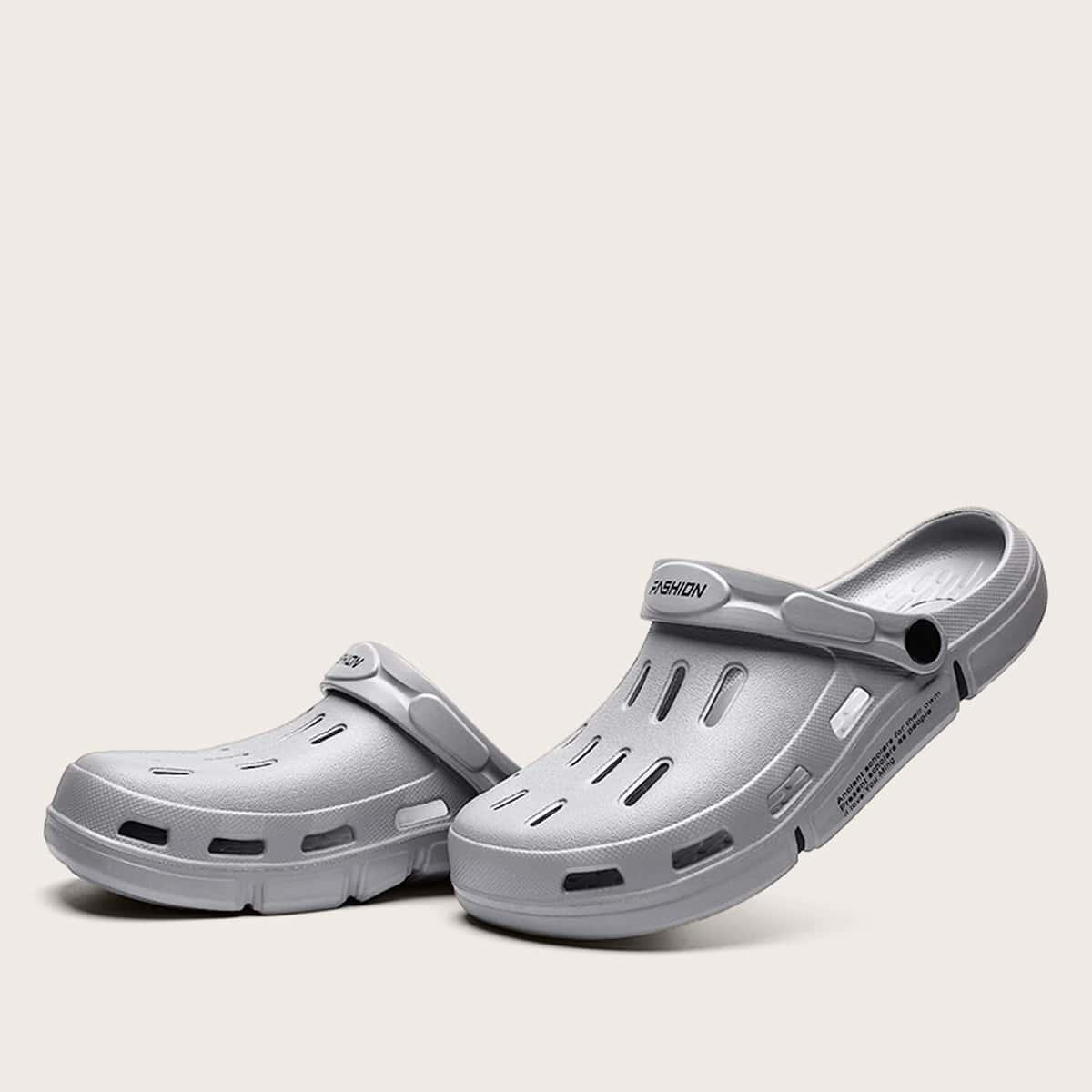 Mannen brief grafische sandalen