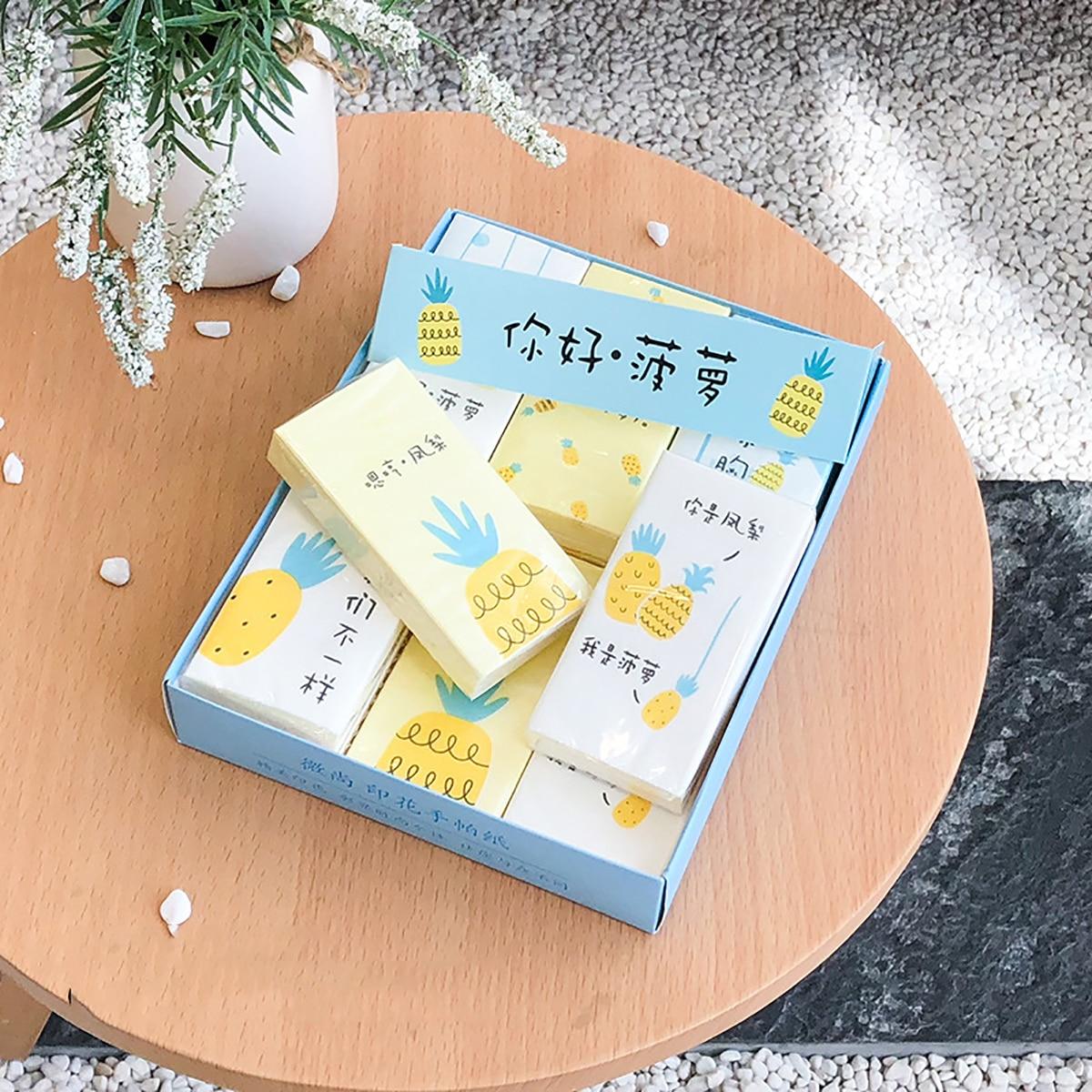 12pack ananas print hoes zakdoek papier