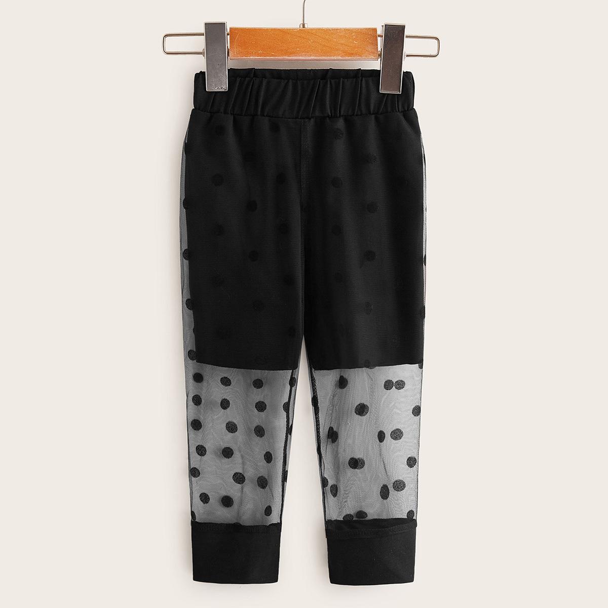 Сетчатые спортивные брюки для девочек от SHEIN