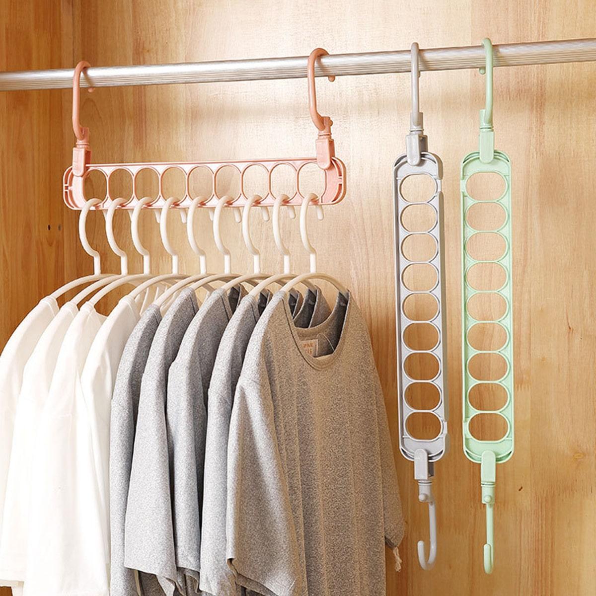 1pc multifunctionele hanger met 9 gaten