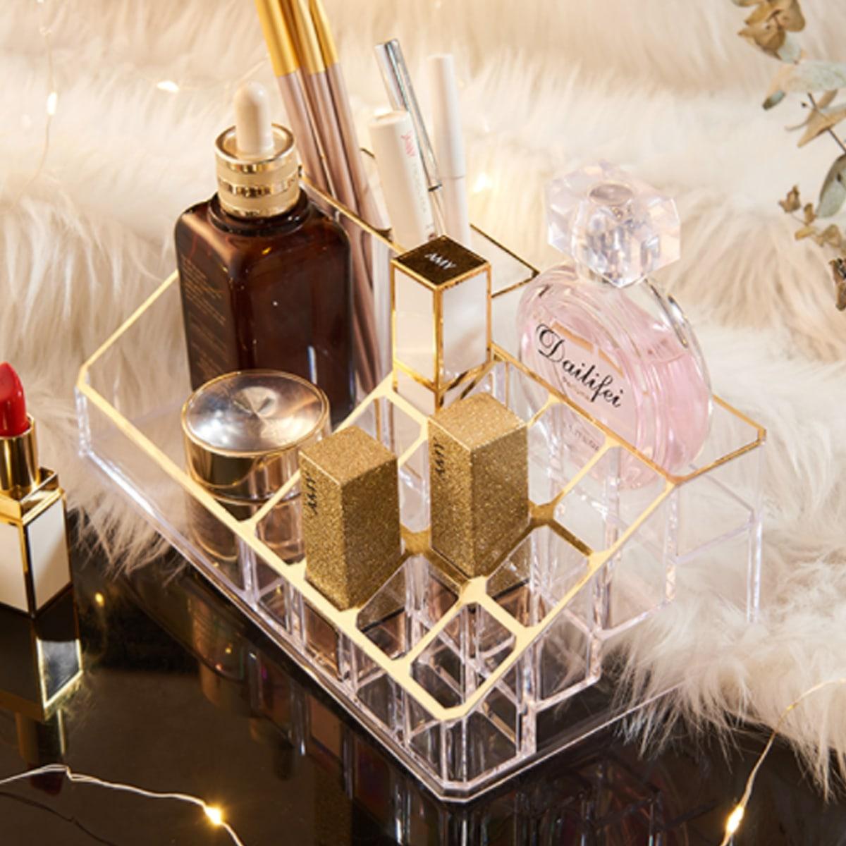 1pc doorzichtige cosmetische opbergdoos met meerdere rasters