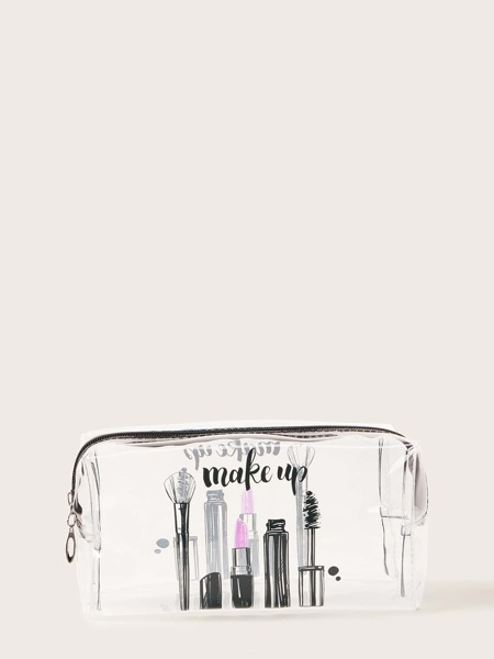 Cosmetics Pattern Clear Makeup Bag