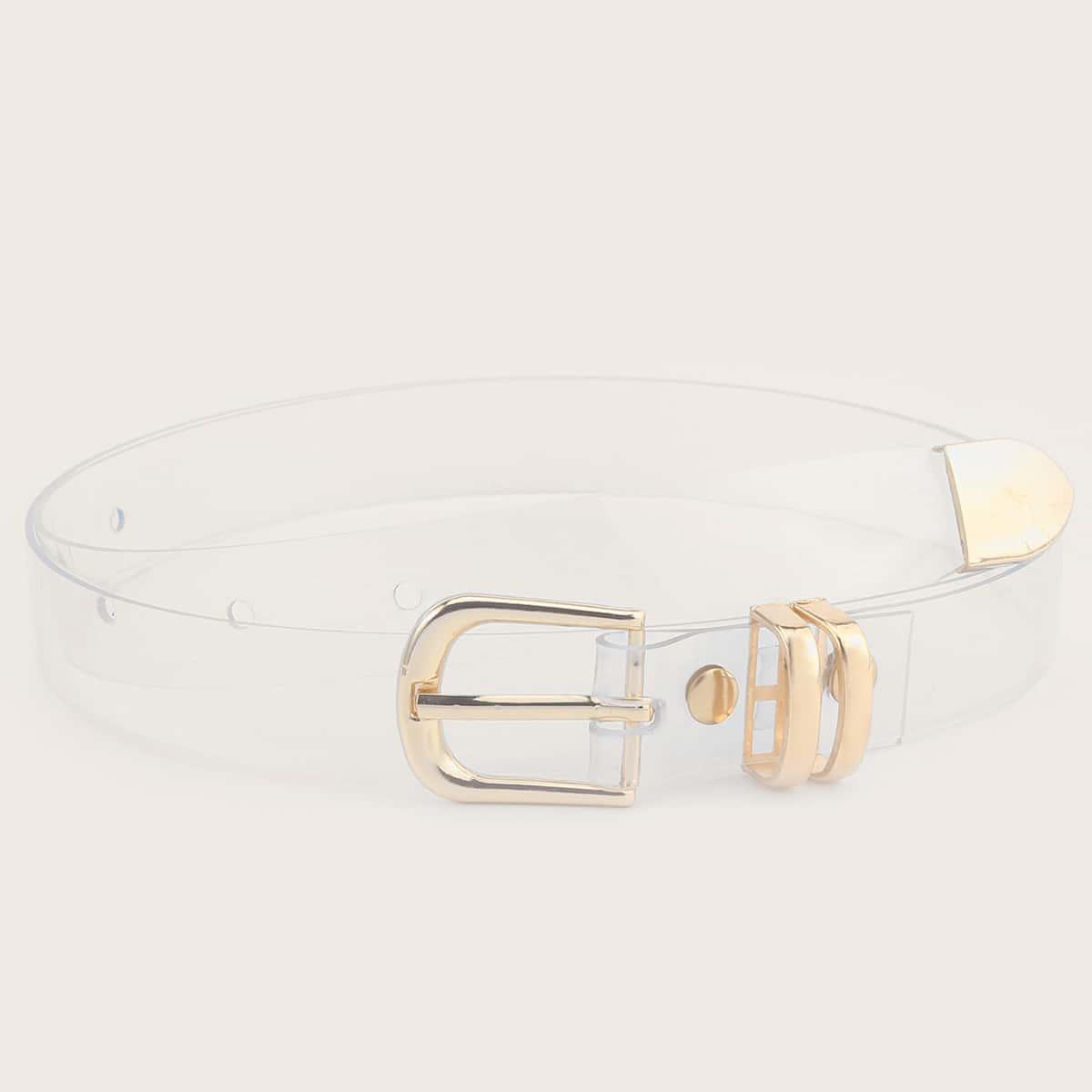 SHEIN / Transparenter Gürtel mit Metallschnalle