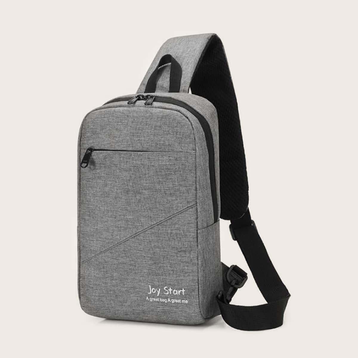 Minimalistische heren sling bag met rits
