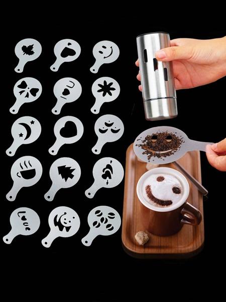 16pcs Coffee Pull Flower Mold Set