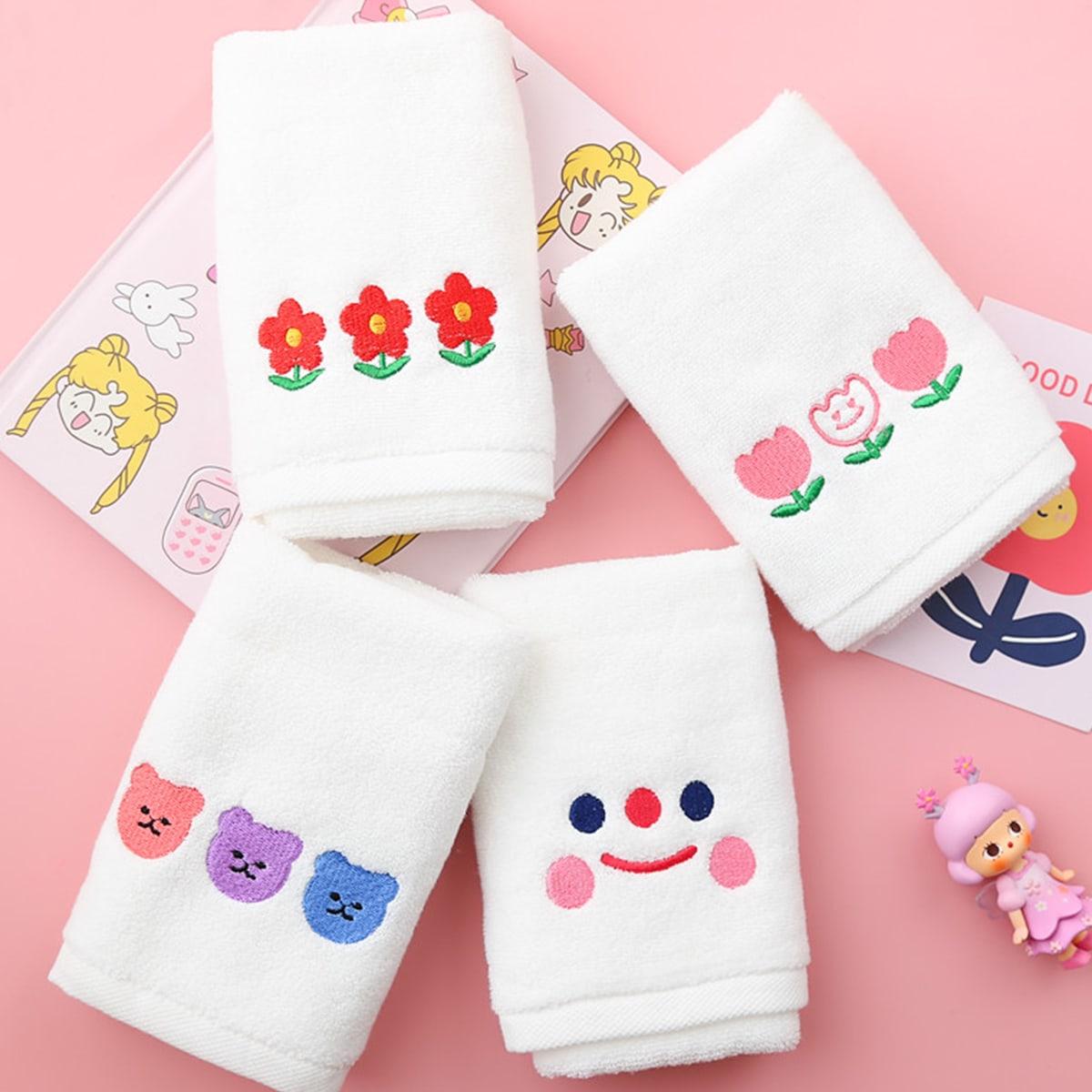 1pc willekeurige cartoon grafische handdoek