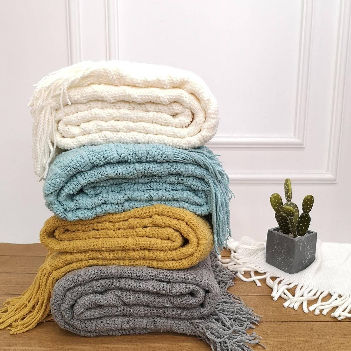1pc plaid geweven katoenen deken