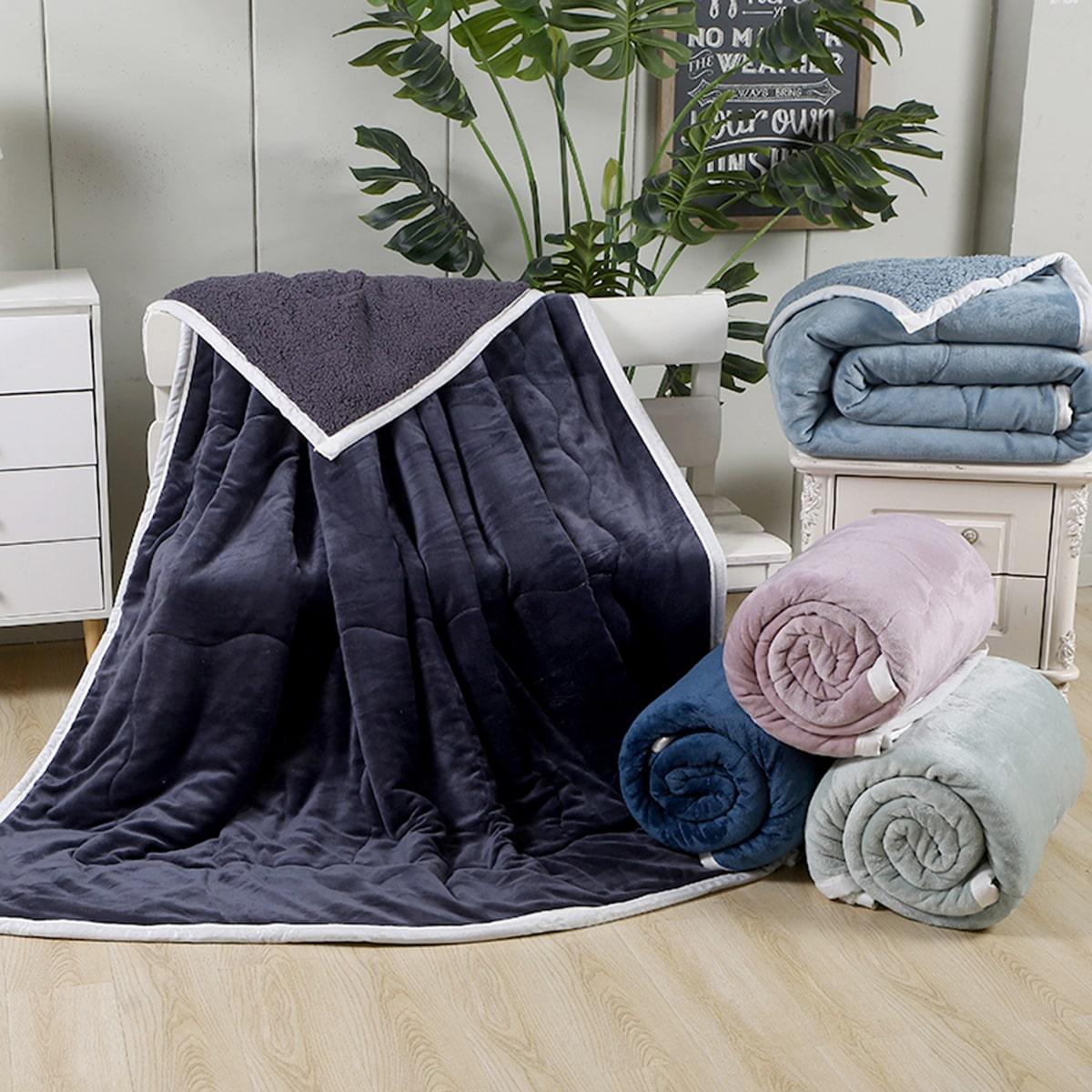 1pc effen kleur fluwelen deken