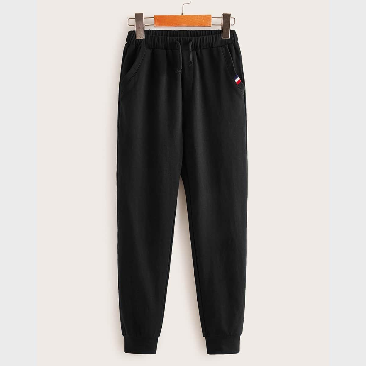 Спортивные брюки с полосками для мальчиков от SHEIN