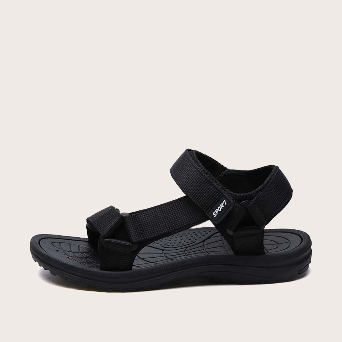 Mannen minimalistische klittenband sandalen