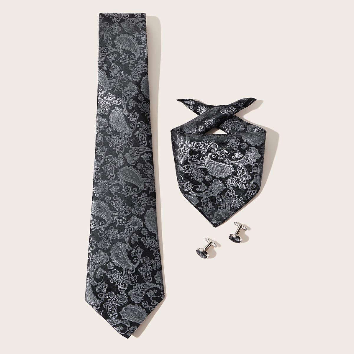 3-delige heren paisley patroon stropdas set
