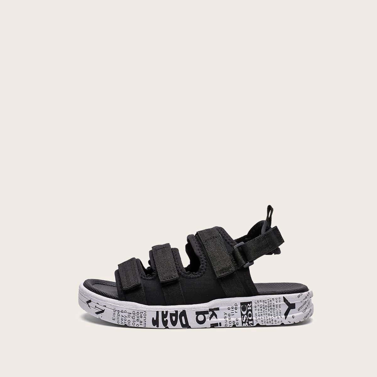 Heren klittenband sandalen