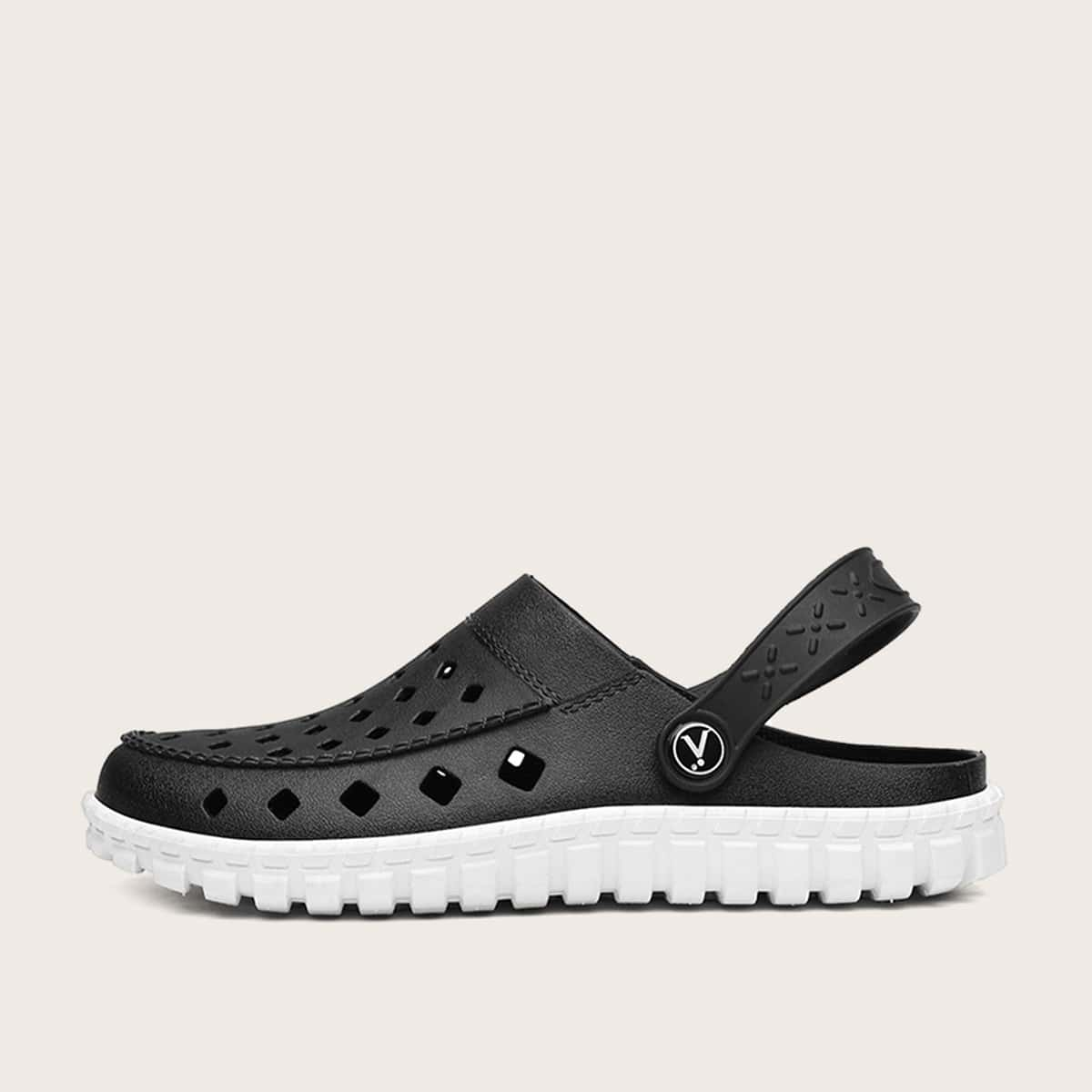Mannen tweekleurige holle antislip sandalen
