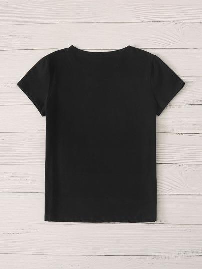 """Da donna /""""YVES SAINT love/"""" Oro Metallizzato Stampa Slogan Manica Corta T Shirt Top"""