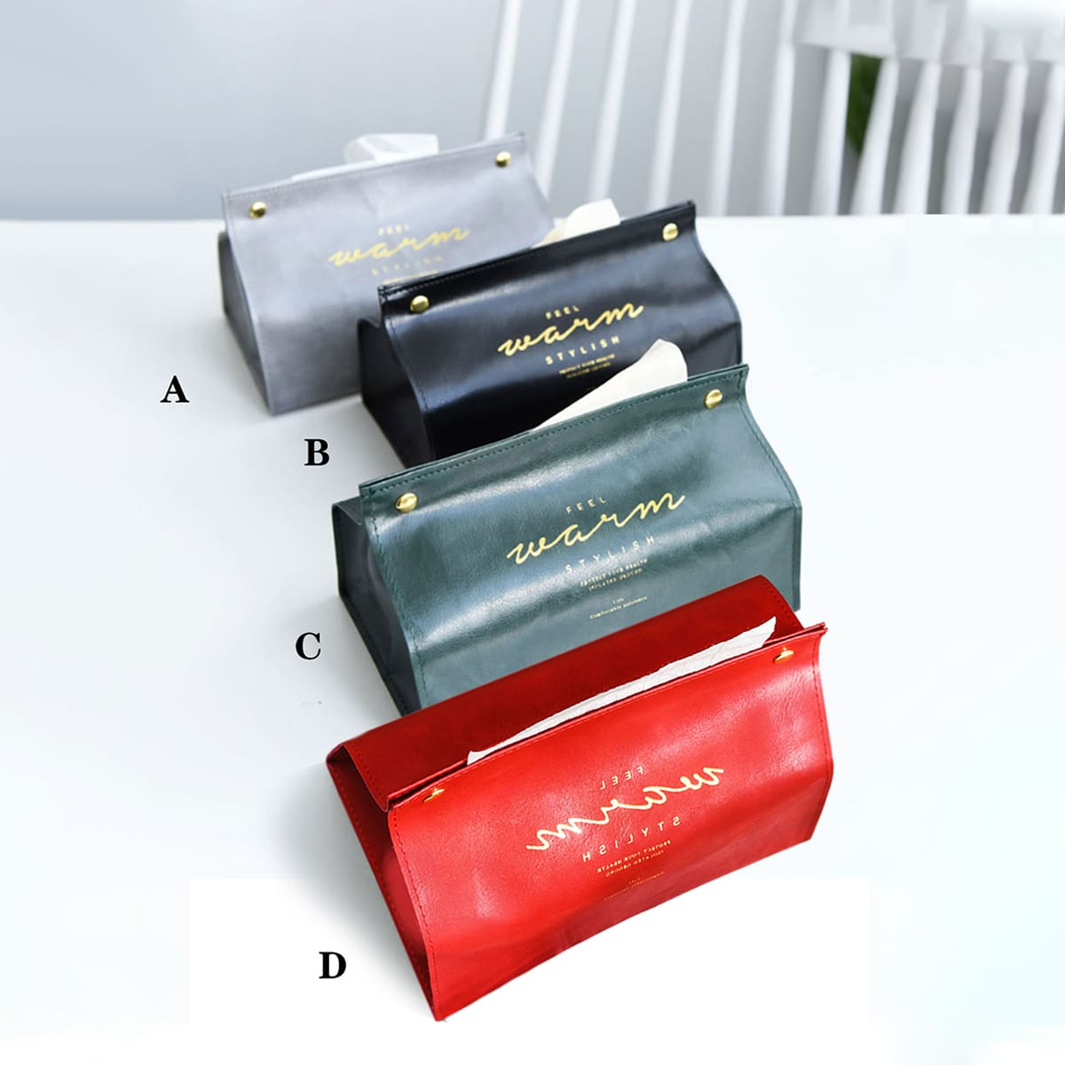 1pc Slogan Graphic Tissue Storage Bag