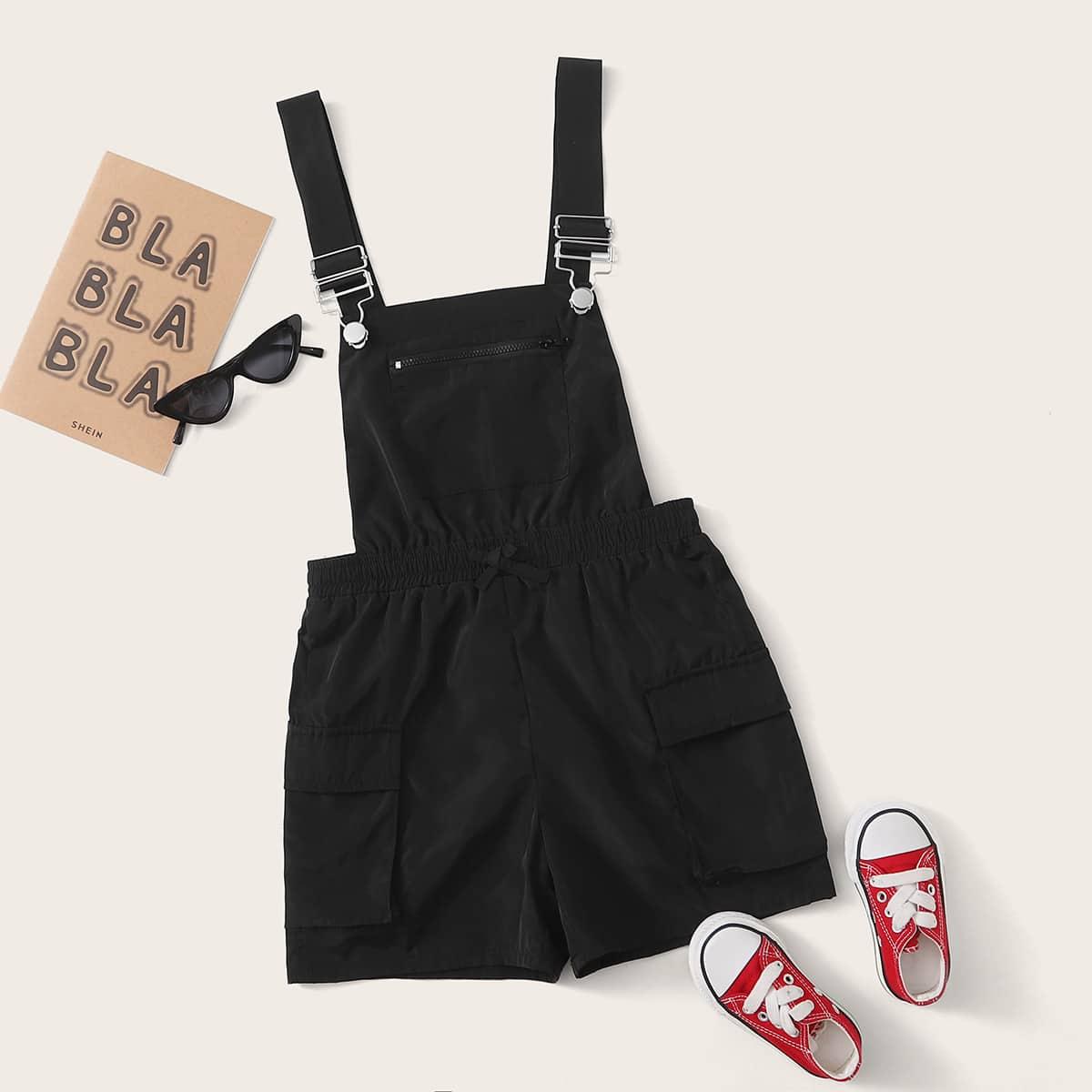 Комбинезон с эластичной талией и карманом для девочек от SHEIN
