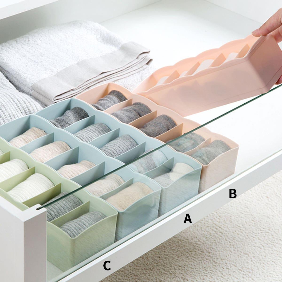 1pc Ondergoed Opbergdoos met meerdere compartimenten