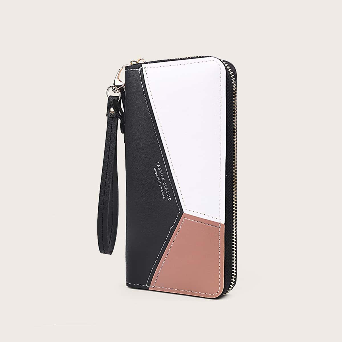 Контрастный кошелек с ремешком от SHEIN