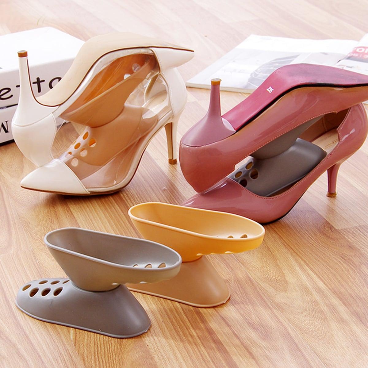 1pc creatieve voetvormige driedimensionale willekeurige schoenenrek