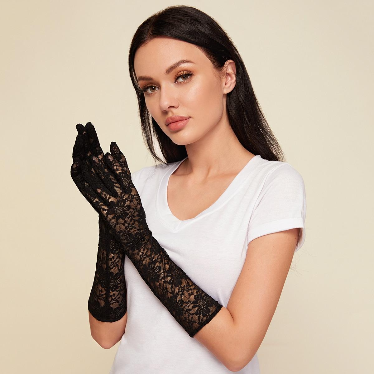 Кружевные длинные перчатки 1 пара от SHEIN