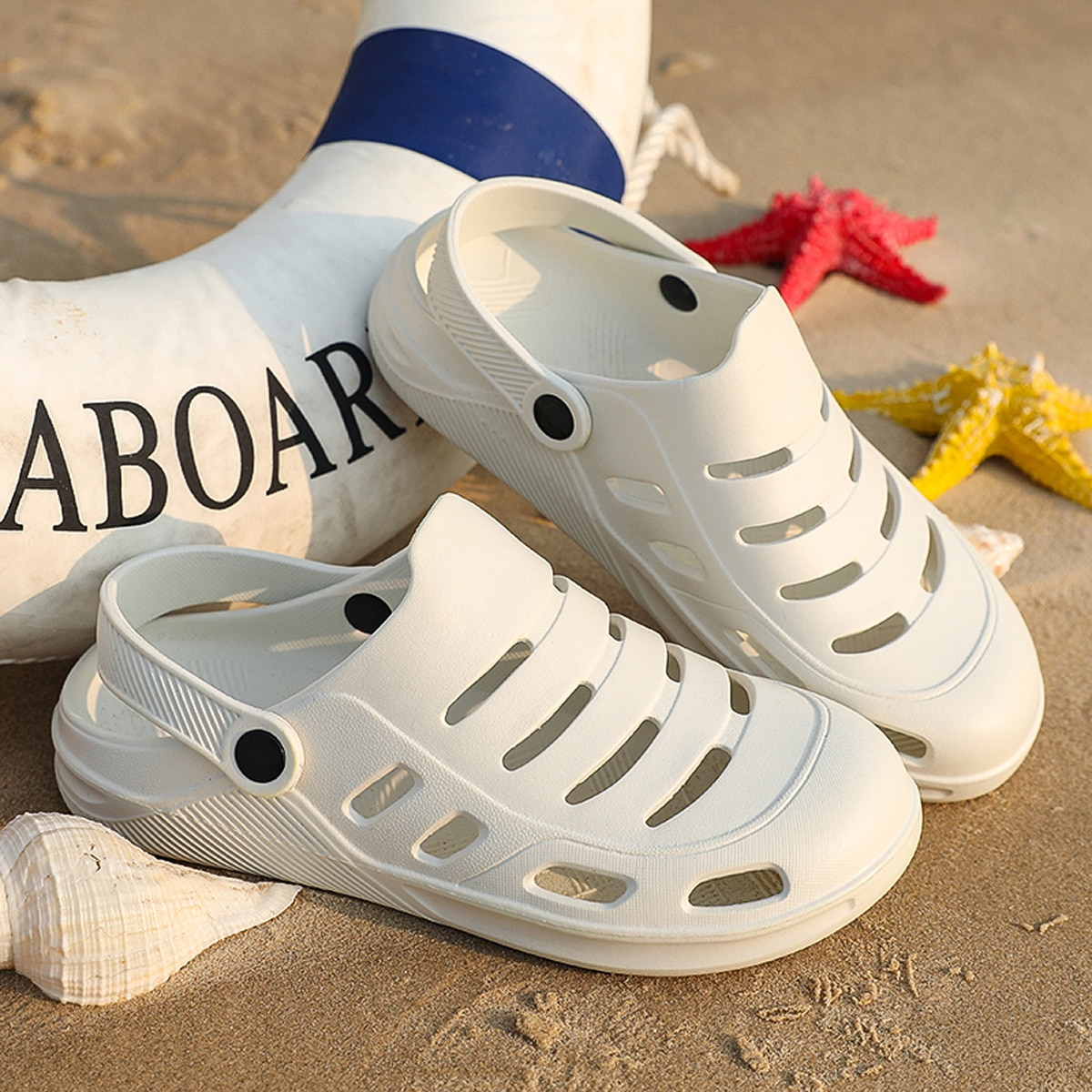 Heren uitgesneden bidirectionele sandalen