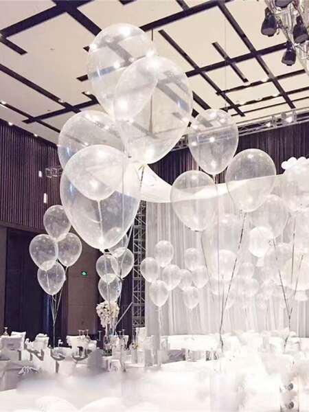 20pcs Clear Latex Balloon & 2rolls Rope