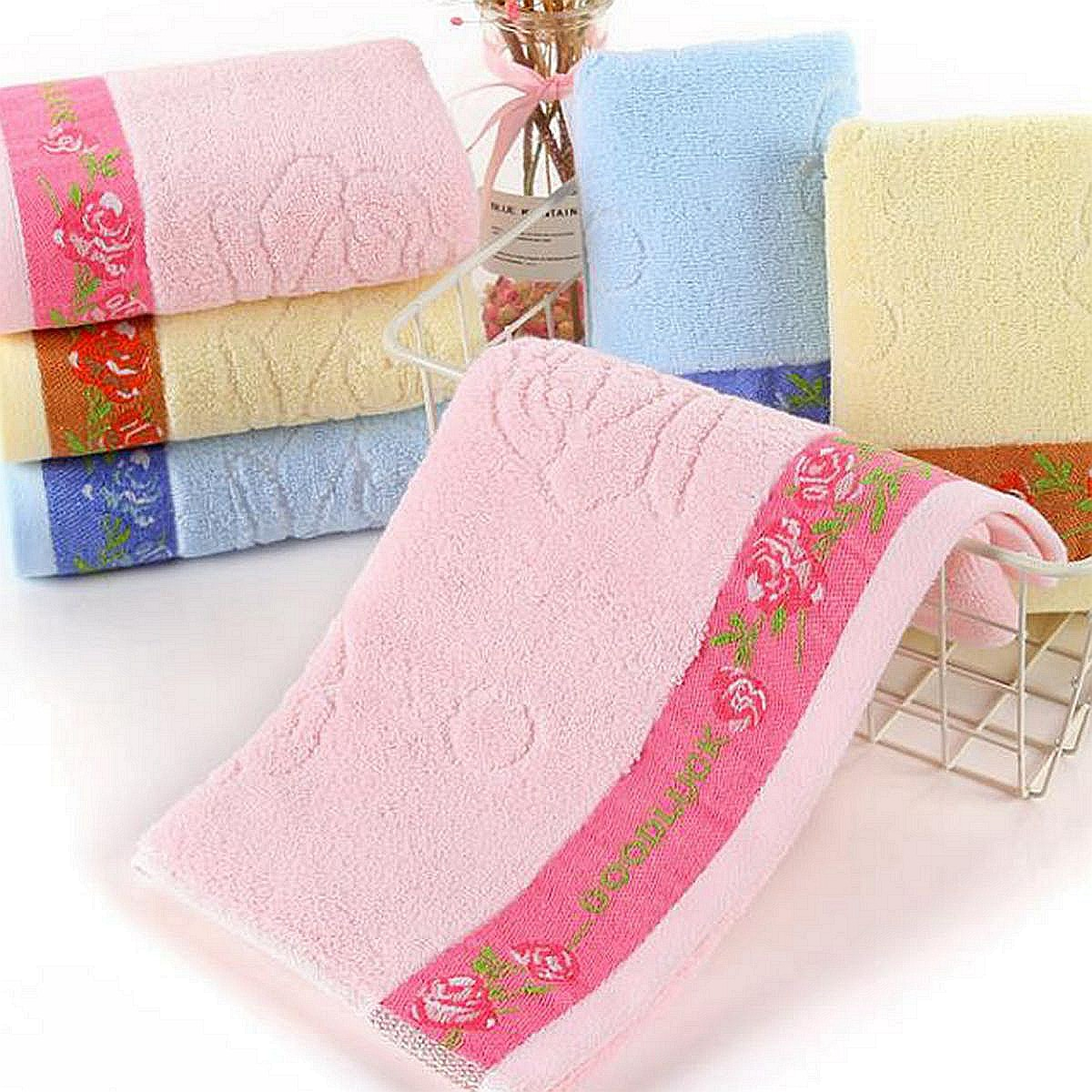 1pc Rose Pattern absorberende handdoek