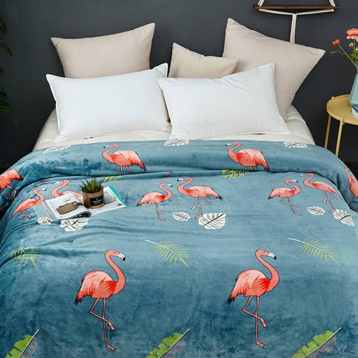 Flamingo print deken