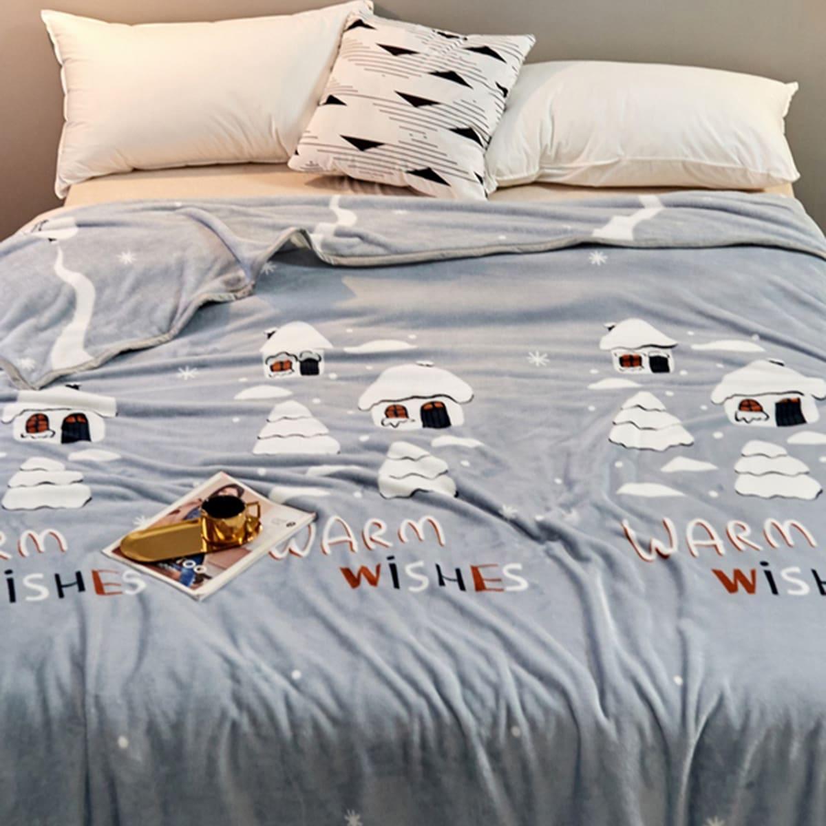 Huis print deken