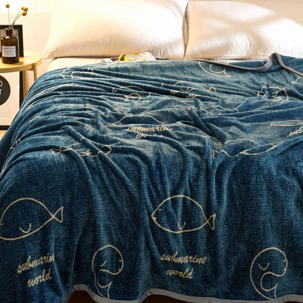 Walvis print deken