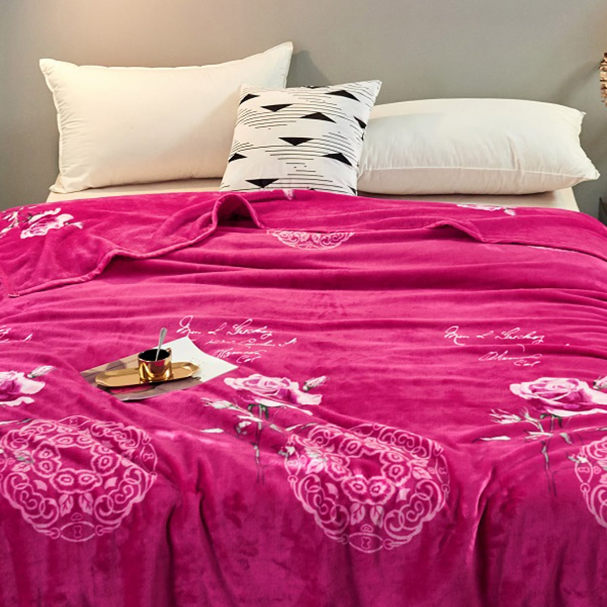 Bloemenprint deken