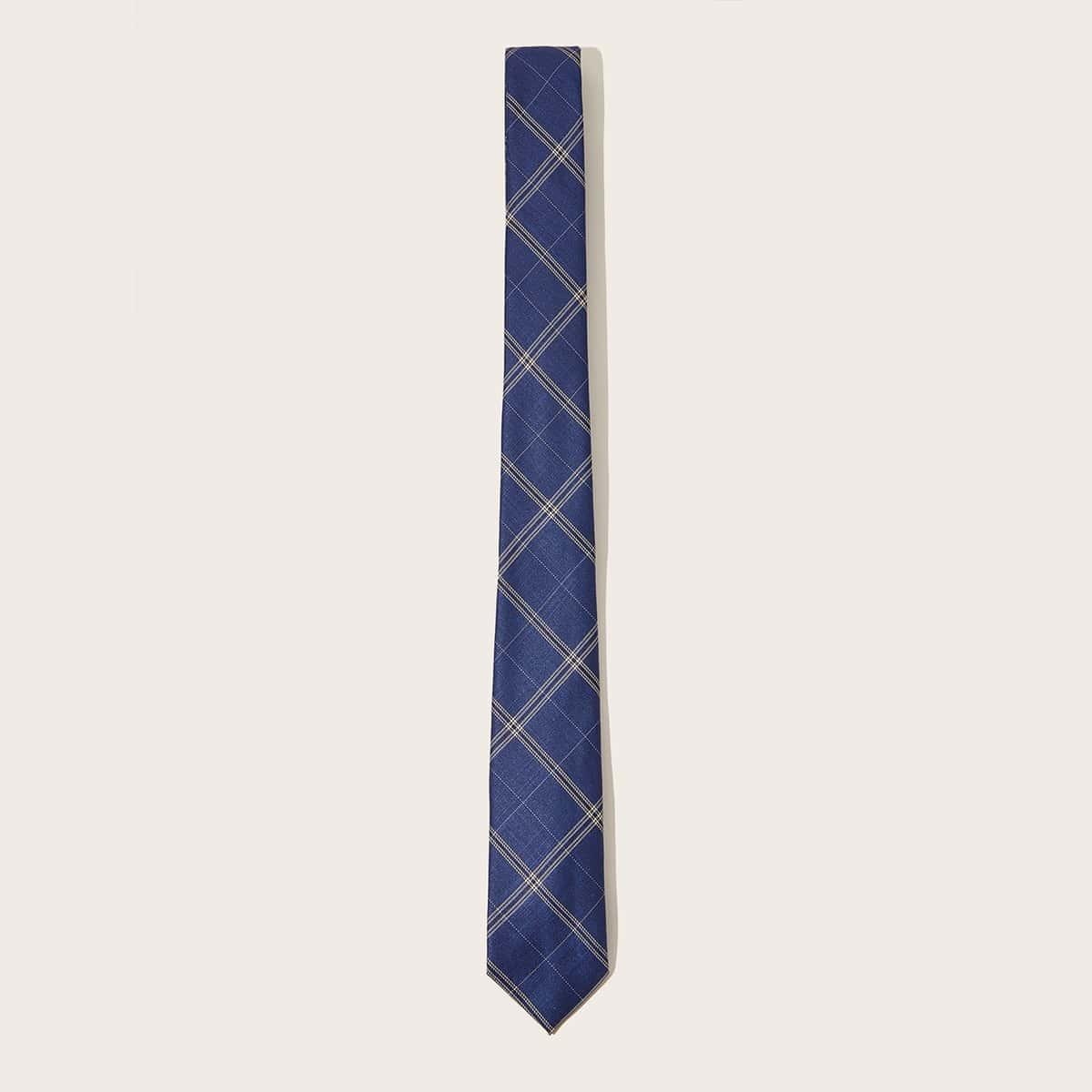 Mannen geruite patroon stropdas