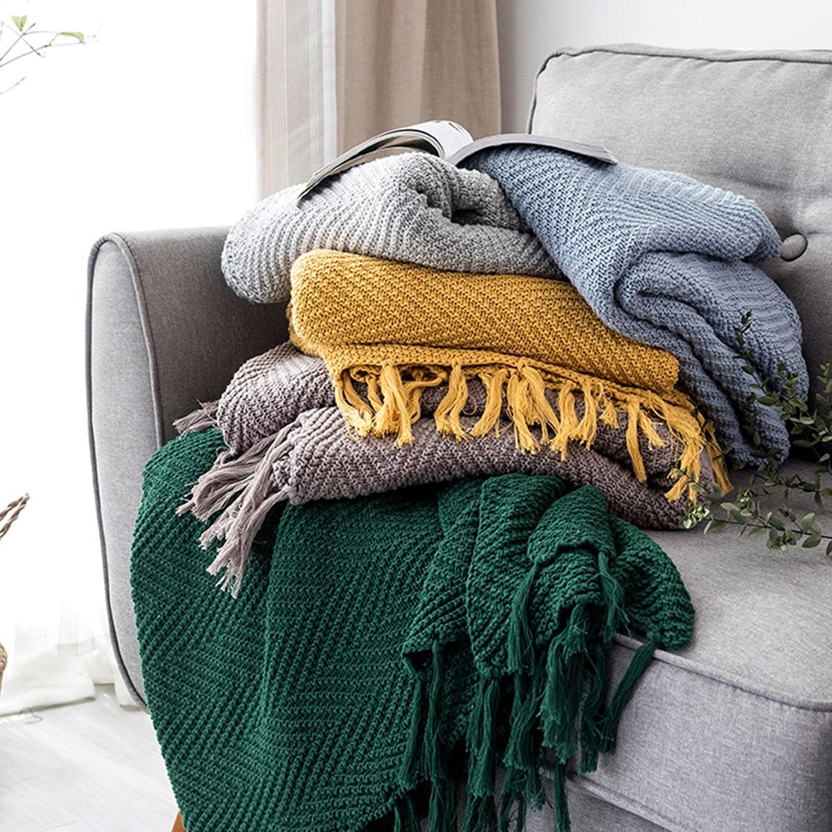 1pc stevige breien deken