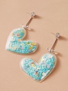 Rhinestone | Engrave | Earring | Heart