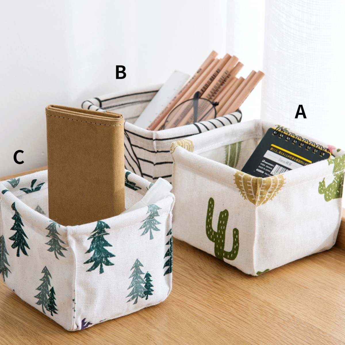 1pc Plant Print Storage Basket