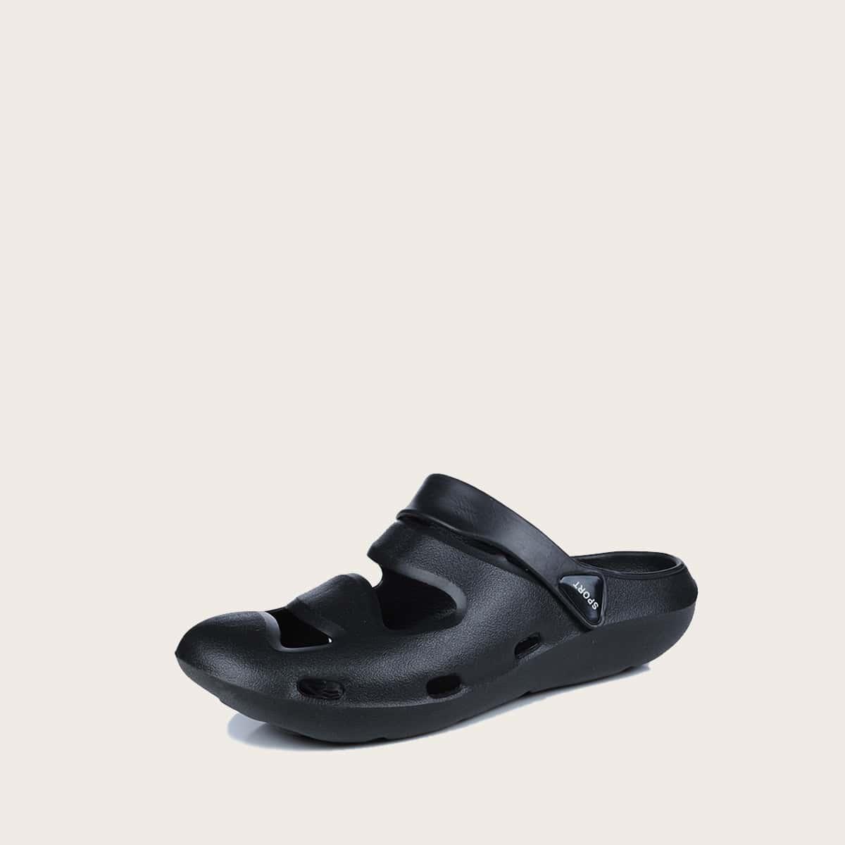 Heren uitgesneden sandalen met brede pasvorm