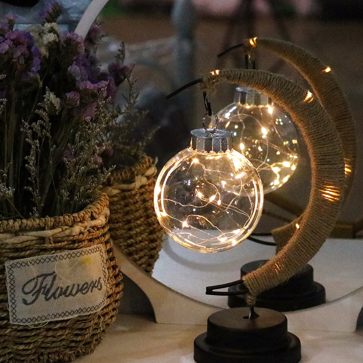 1pc lamp hanger maan ontwerp nachtlampje