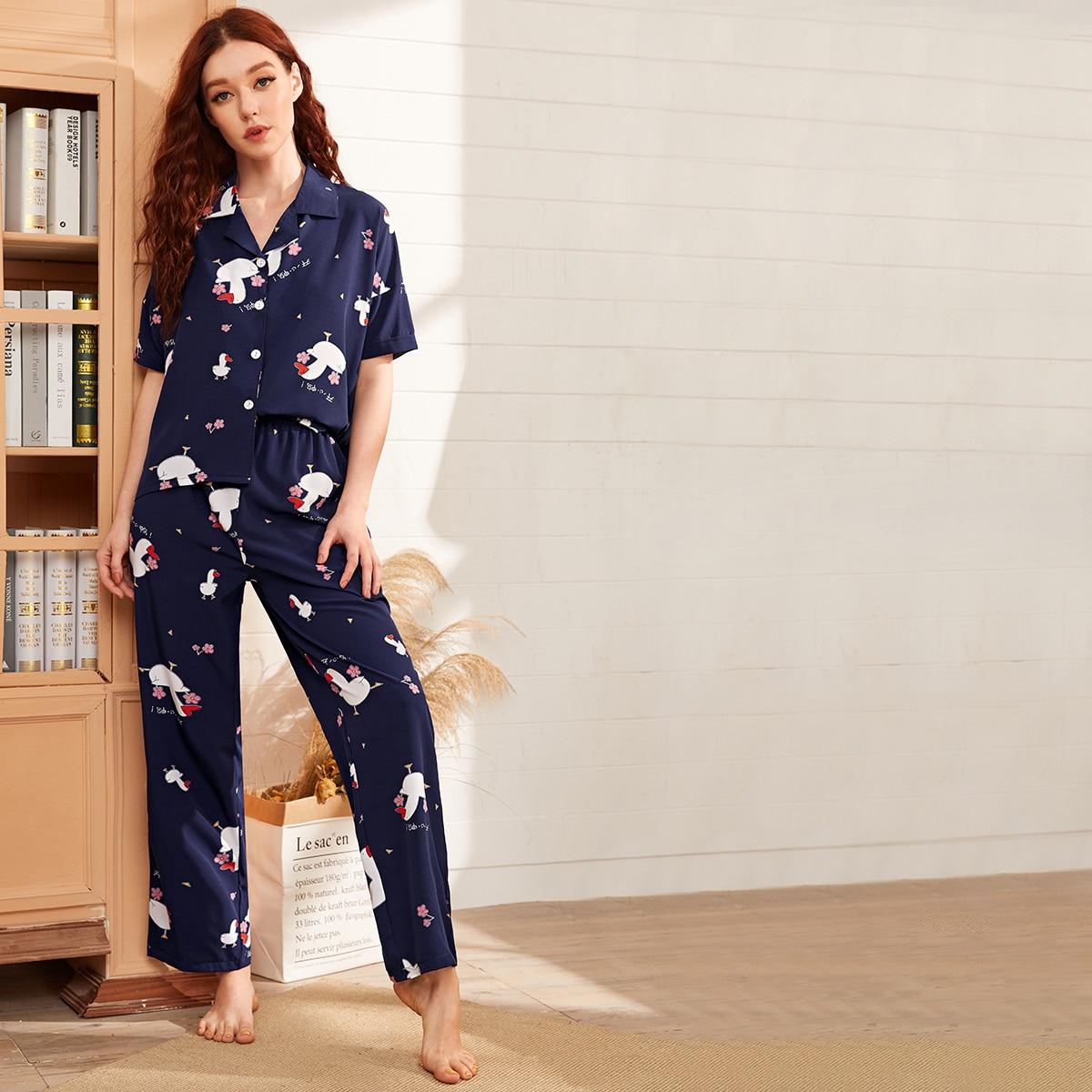 Пижама с оригинальным принтом фото