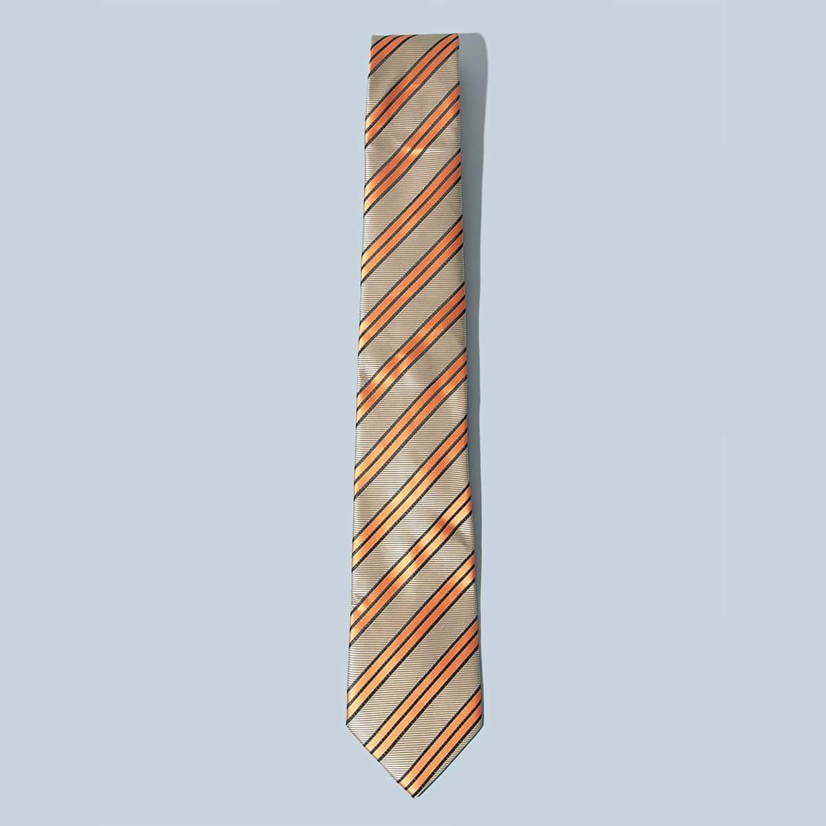 Heren gestreept patroon stropdas