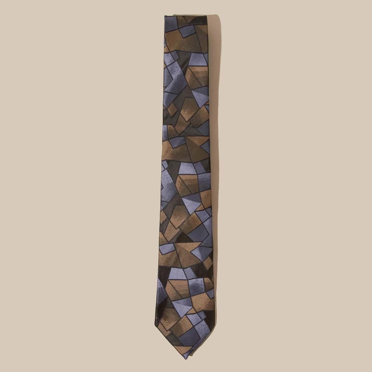 Heren Colour Block Tie