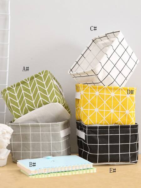 1pc Geometric Pattern Storage Basket