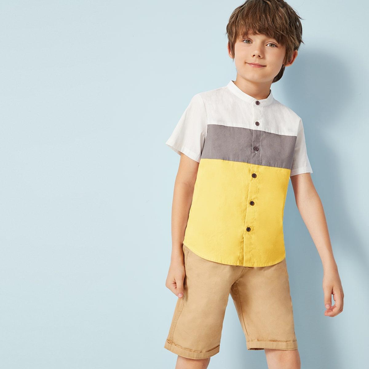 Контрастная рубашка для мальчиков от SHEIN