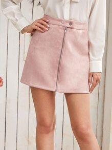 Suede | Front | Skirt | Mini