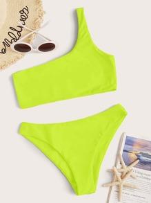 Swimsuit | Shoulder | Bikini | Yellow | Neon | One