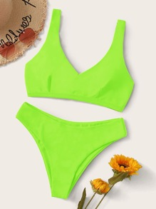 Swimsuit | Bikini | Green | Neon | Back