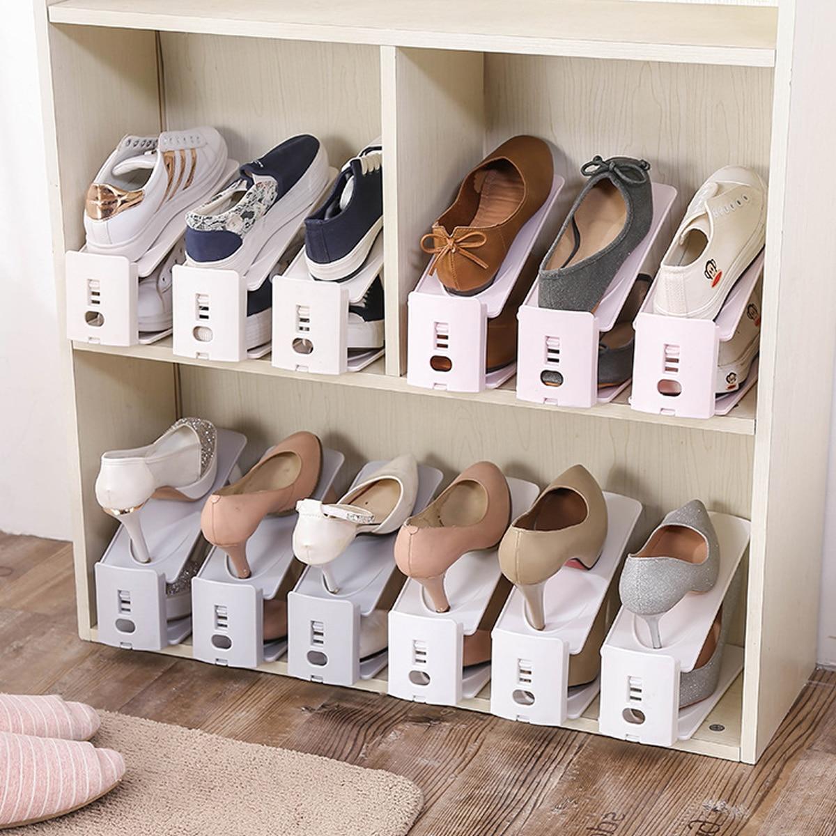 1pc dubbellaagse schoenen opbergrek