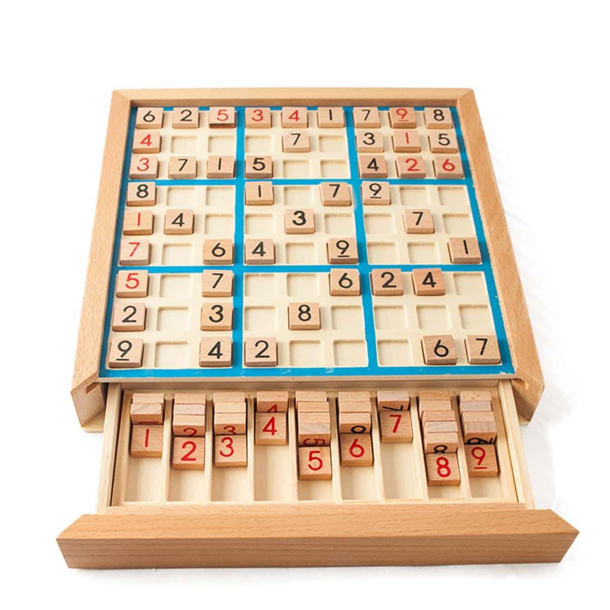 1set Sudoku houten bordspel