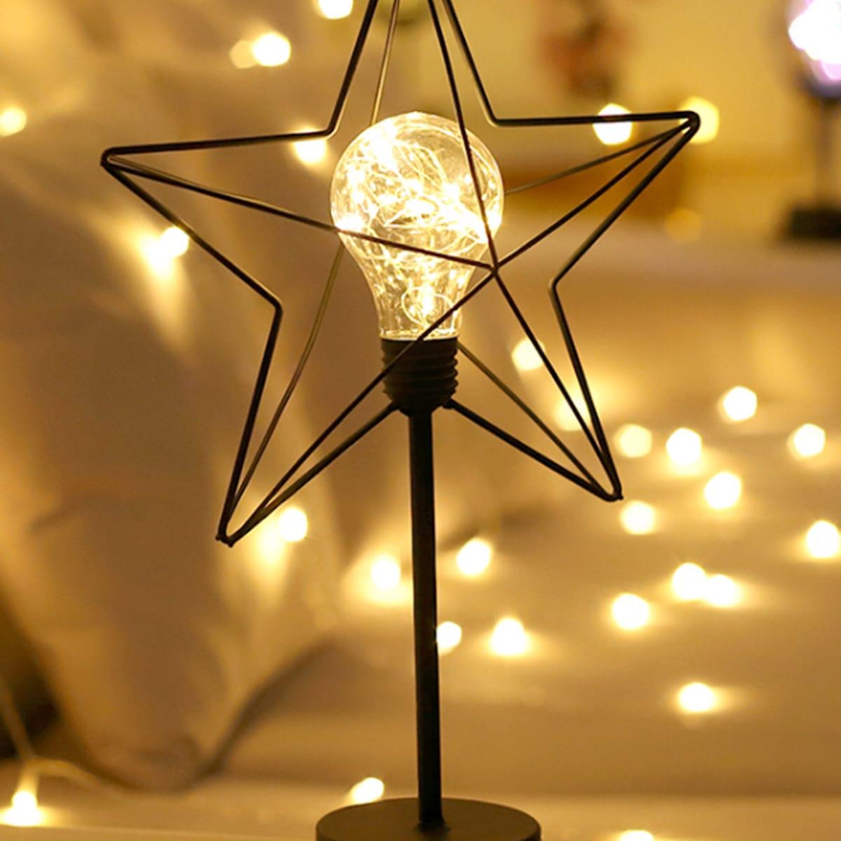 1pc Iron Star Cover Nachtlampje