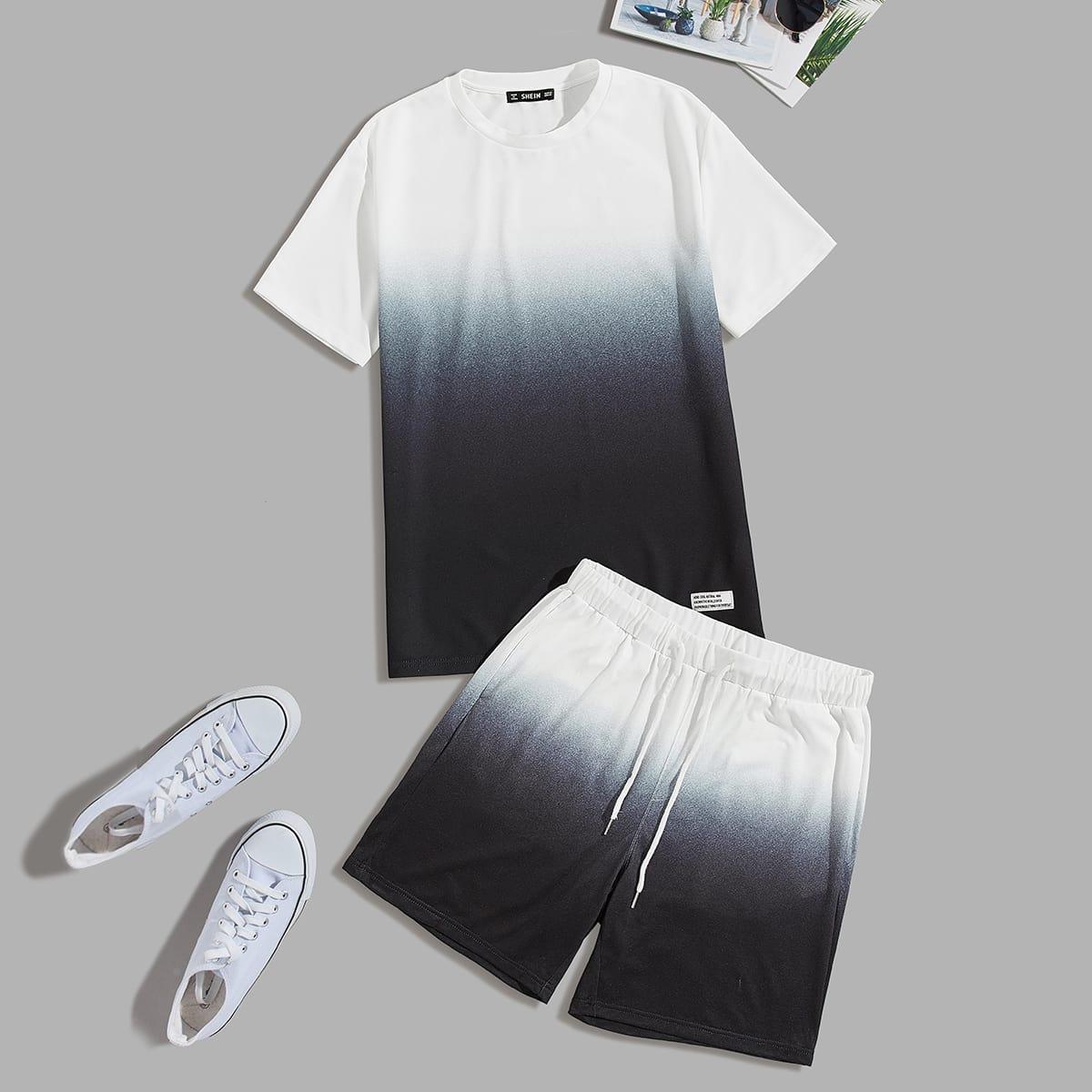 Мужские топ и шорты на кулиске от SHEIN
