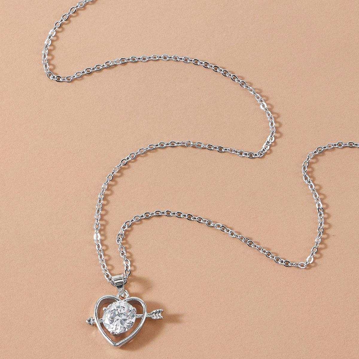 Ожерелье с подвеской сердца 1шт фото